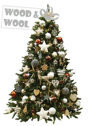 Wood & Wool-kerstboom