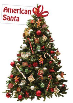 versierdekerstboom American Santa