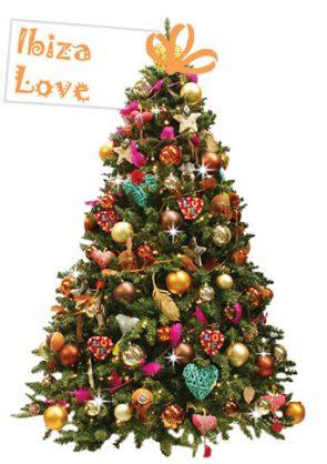 versierde-kerstboom-Ibiza-Love
