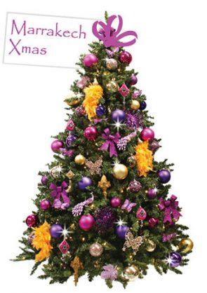 versierde-kerstboom-Marrakech-Xmas