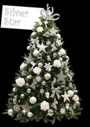 versierde-kerstboom-Silver-Star-Z