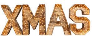 XMAS verlichte letters