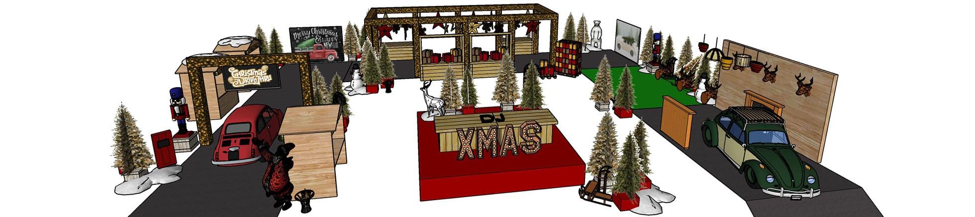 Wij ontwerpen uw Christmas Drive-Thru geheel op maat!